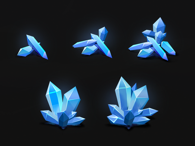 """Crystals for """"Call of Victory"""" crystals game purcases blue light reflects pack ios android rts"""