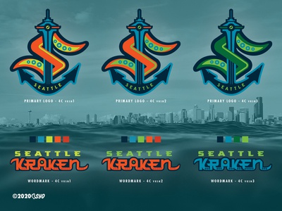 SEA Kraken - NHL 32 - logo(s) Concepts Comparisons