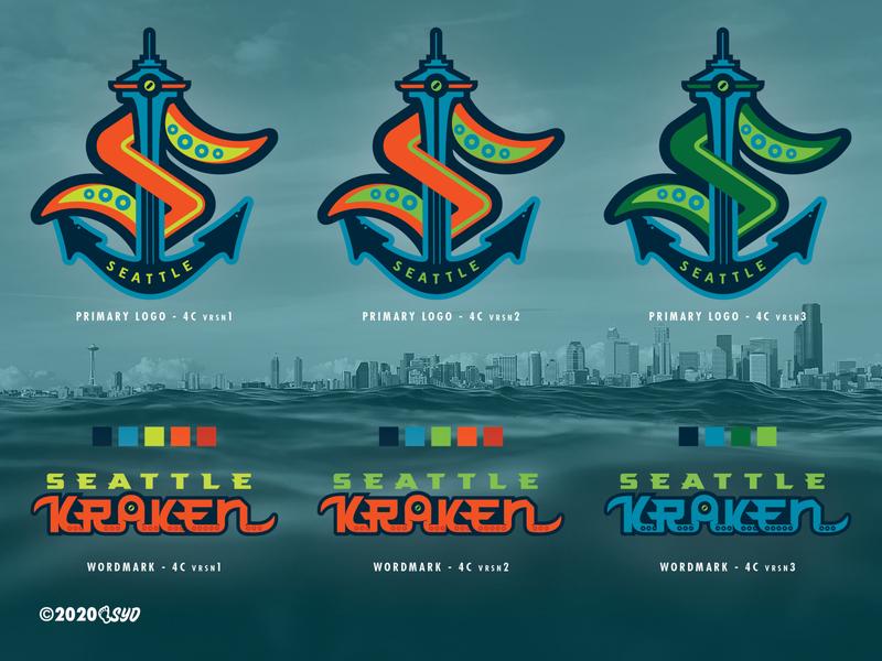 SEA Kraken - NHL 32 - logo(s) Concepts Comparisons