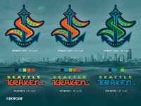 SEA Kraken - NHL 32 - logo(s) Concepts Comparisons nhl32 seattle hockey nhlseattle seattlekraken alaska screamin yeti logo identity branding