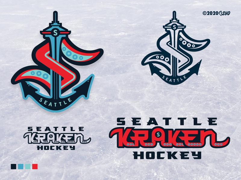 SEA Kraken - NHL 32 - logo(s) SYD colors-official colors branding identity logo screamin yeti alaska seattlekraken nhlseattle hockey seattle nhl32