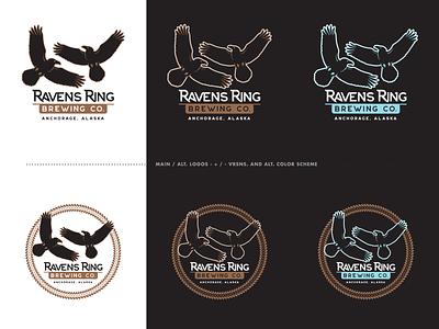 Ravens Ring Brewing - The Chosen Ones brewery ravens identity logo branding alaska anchorage screamin yeti