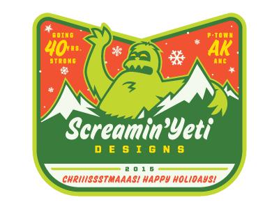 SYD - Chriiissstmaaas! Happy Holidays! sticker happy holidaze christmas grinch tour sticker screamin yeti