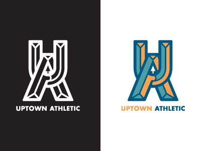 Uptown Athletic - primary logo (1C & 3C) alaska labodega gym athletic uptown anchorage fairview logo screamin yeti