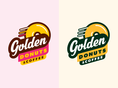 Golden Donuts - rebrand - Round 1 anchorage delivery coffee golden donuts proof rebrand identity logo screamin yeti alaska