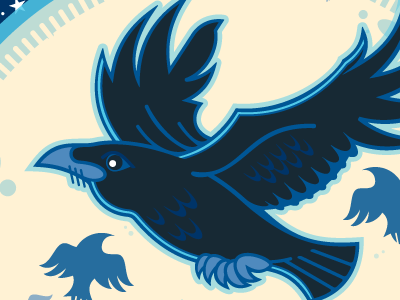 Corvus Design - 2016 Holiday Card - 10 Yrs. screamin yeti logo e-card holiday card ten years corvus design raven alaska 2016