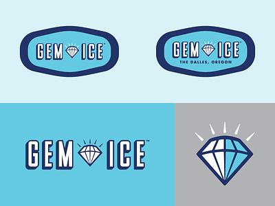 Gem Ice - logo(s) - final cut anchorage final oregon the dalles ice delivery gem identity logo screamin yeti alaska