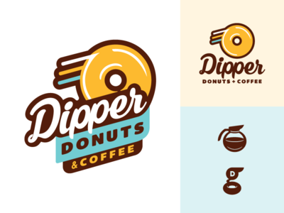 Dipper Donuts - rebrand to new brand alaska screamin yeti logo identity rebrand proof dipper donuts coffee delivery spenard anchorage