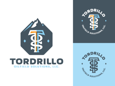 Tordrillo Oilfield Solutions, LLC - logo(s) alaska monogram tordrillos mountains stylized letters oilfield oil sticker logos screamin yeti