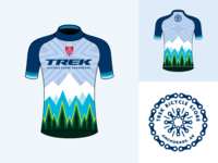 Trek Bicycles Anchorage  - regional jersey / logo - shelved