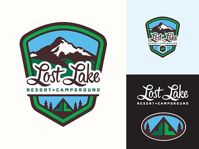 Lost Lake Resort & Campground - logo(s) / branding custom type resort camping mt. hood oregon rebrand identity logo screamin yeti alaska