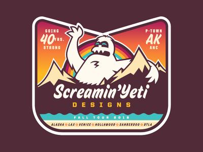 SYD - SoCal / CalJam / Fall Tour '18 sticker alaska screamin yeti tour sticker fall tour california caljam so cal