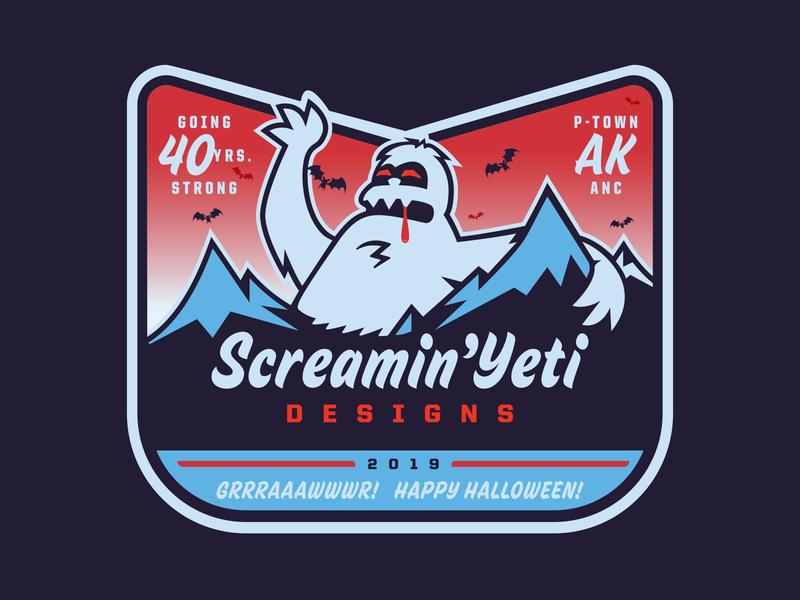SYD - Grrraaawwwr! Happy Halloween! '19 sticker screamin yeti tour sticker undead vampire yeti halloween hooowwwlaween