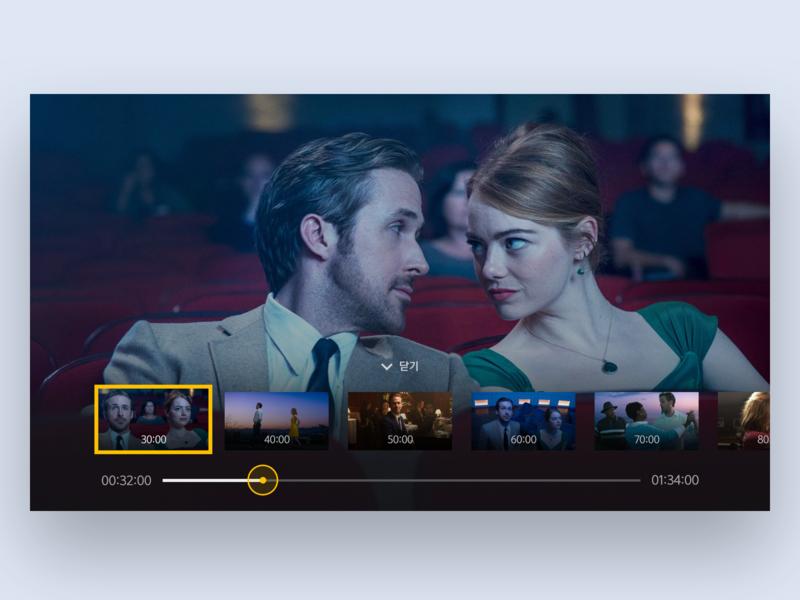 NEXT IPTV - VOD Player movie progress player progress player yellow vod ux ui tv play next lg iptv flat