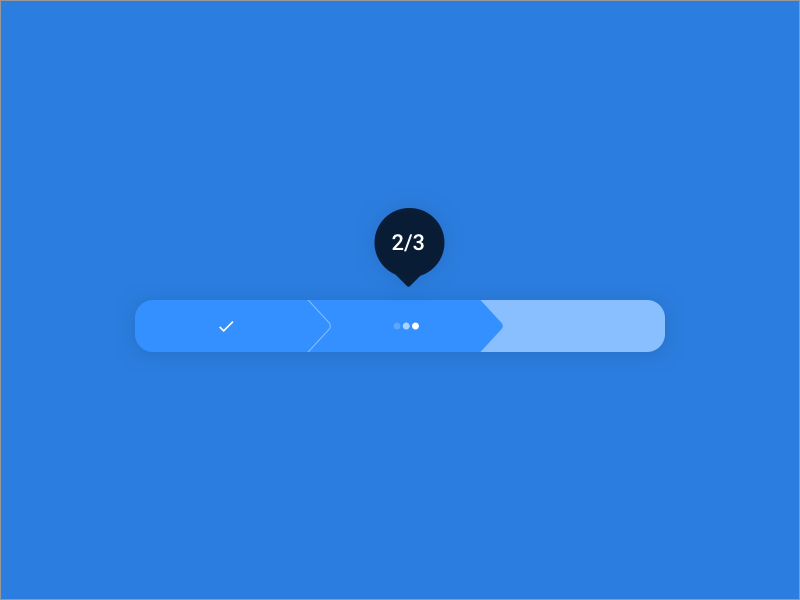 Progress Bar UI Pattern indicator web interface form complete steps progress loading animation ui