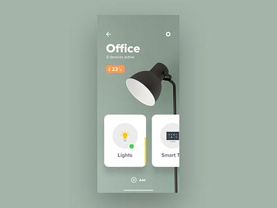 Smart Home Concept photograph design loading ux gesture iphonex interaction animation ui sketch lightweight simple temperature unsplash swipe lights app cards ios smart home