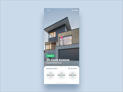 Augmented Reality Real Estate Concept cards swipe card user inteface ux-ui type app camera app camera vr art augmented reality design iphonex ios interaction animation ui real estate app real estate