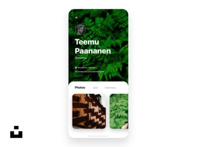 Unsplash profile screen redesign concept