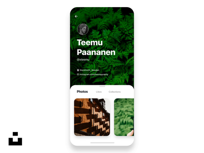 Animated @Unsplash Profile Tranition Concept 🤘🚀