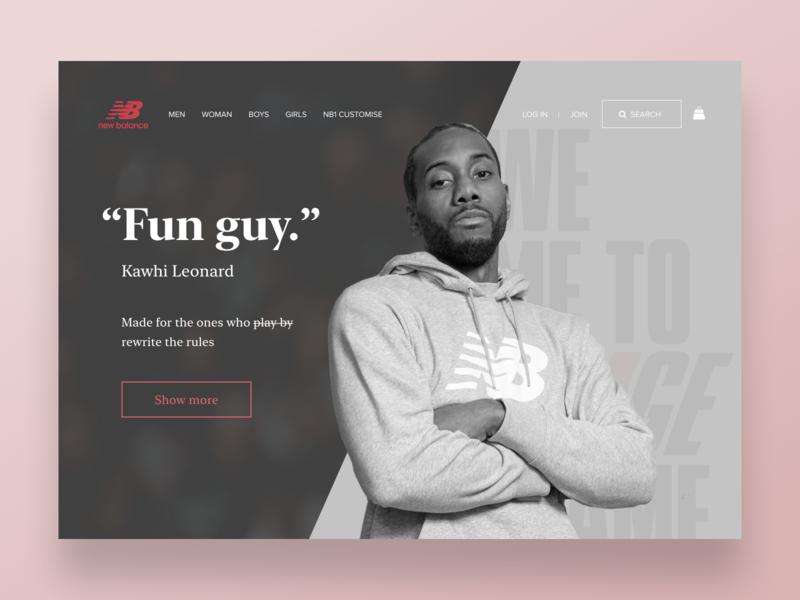 Fun Guy. Kawhi Leonard / New Balance concept