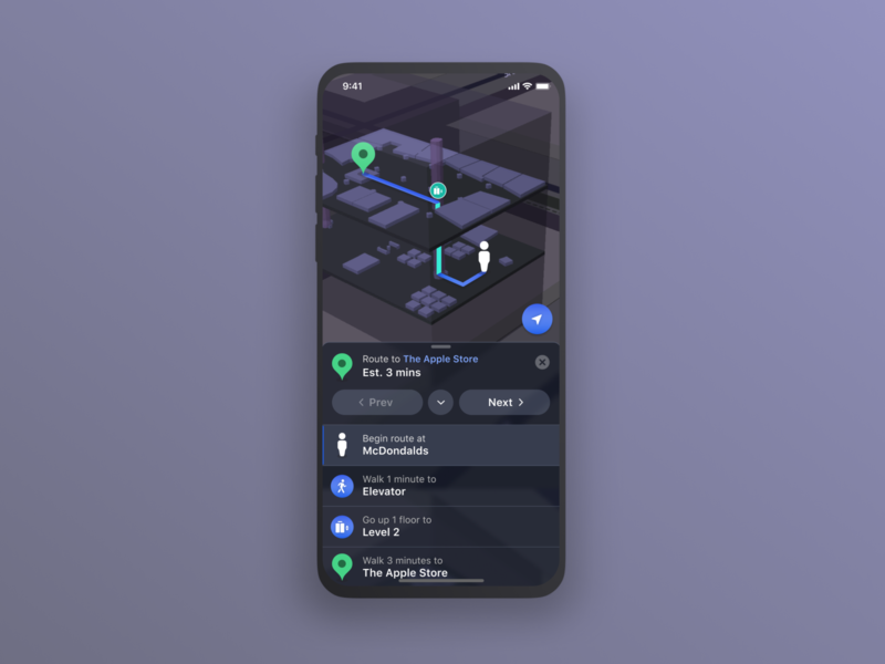 2.5D Navigation Dark Mode