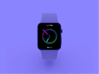 🍎 iWatch Active BPM Concept design illustration figma ux ios interaction animation gradient smartwatch uiux ui pulsing animation fitness tracker iwatch