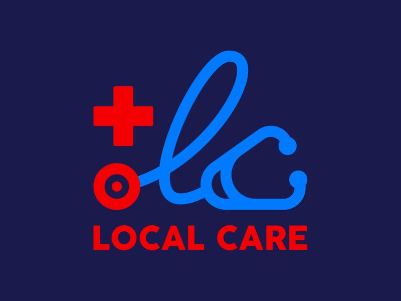 LOCAL CARE lc stethoscope health hospital doctor healthcare logo