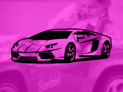 """In My Barbie Lambo..."""