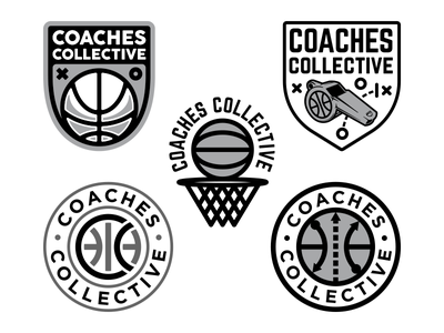 Coaches Collective sports playbook collective hoops badge whistle basketball coach