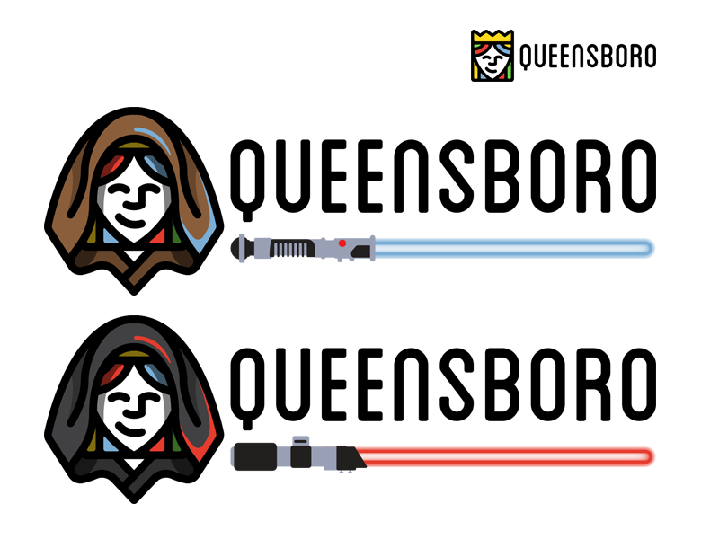 QB starwars queen header dark side light side light saber starwars