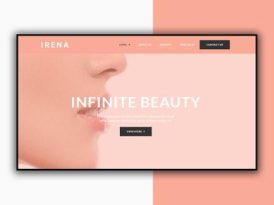 Beauty and Spa Website ui logo illustration icon graphic design design branding app 3d animation website design web design spa website beauty website