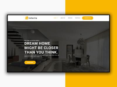 Interior Website illustration icon design app branding logo motion graphics graphic design 3d animation ui web design website interior website interior