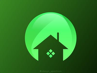 Green House Representation ux ui vector illustration logo branding logo graphic design design business logo branding