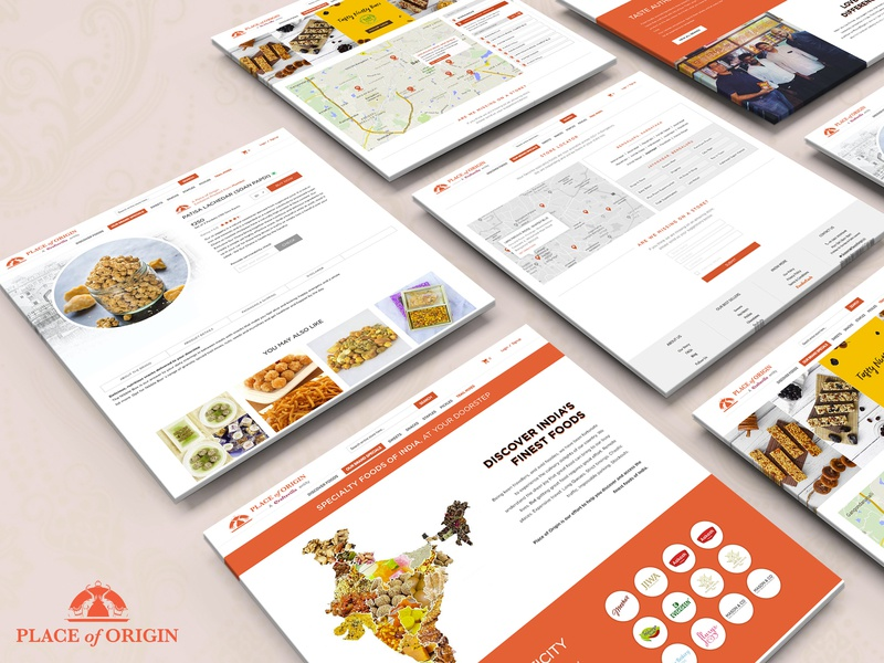 Place of Origin branding ecomerce ui  ux interface web site detail page about page website food design