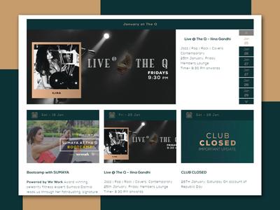 The Quorum Club interface design interaction illustraion ui  ux design vector animation prototype interface design icons set website