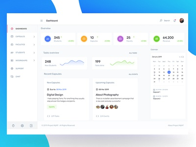 Dashboard Design blue education online app learning platform learning app design agency ux designer uidesign dashboard ui dashboard design dashboard app