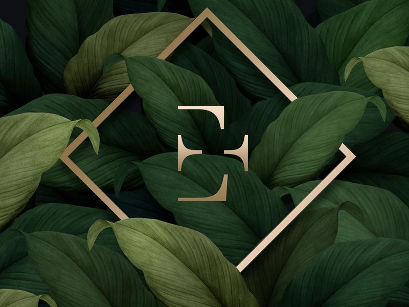 Etchitch logo design agency nature golden green negative space logo illustration color identity branding branding brandidentity website logo 2d logo