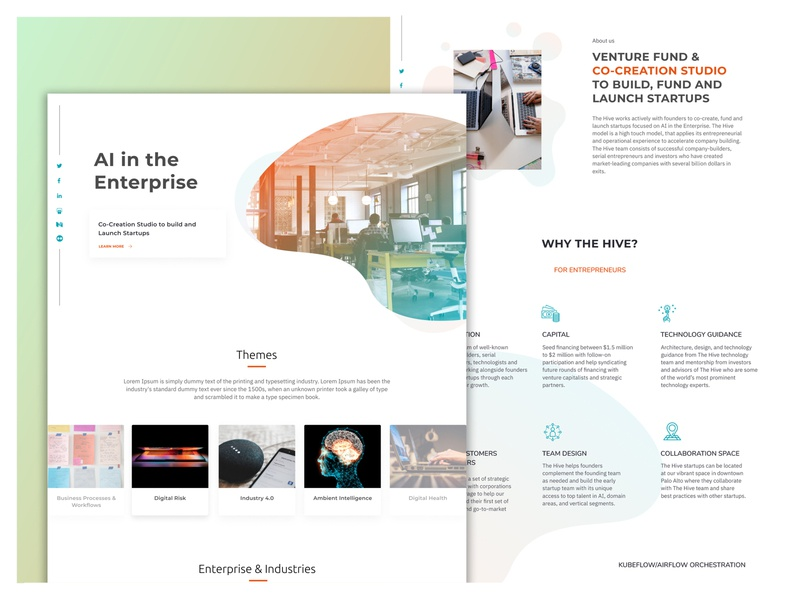 AI First socialmedia minimal ai interaction homepage wireframe website uiux dribbble design