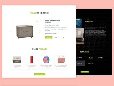 Webpage Section gadgets electronic product ecommerce interaction dribbble ux uiux prototype website ui interface design