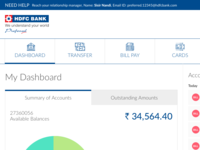 Redesign HDFC Netbanking Scree.