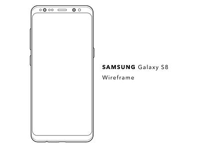 Samsung Galaxy S8 Wireframe uxdesign wireframe samsunggalaxys8