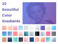 30 Beautiful Color Gradients