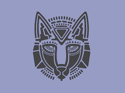 Wolfenstein geometric geo aztech aztec pattern logo animal vector wolf