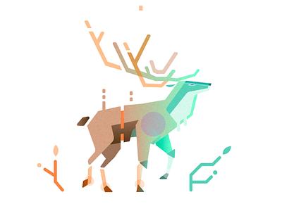 Stag animal pattern deer geometric stag