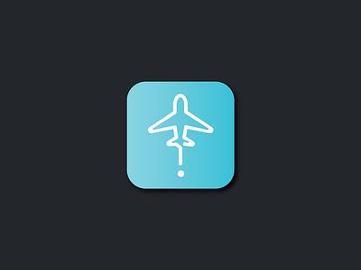 Daily UI Challenge 003 App Logo aeroplane airline plane icon app ux ui