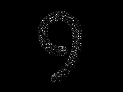 "Numeric ""9"" for 36 days of type challenge typography numeric 3d art design 36 days of type 36daysoftype 36days cinema4d 3d"
