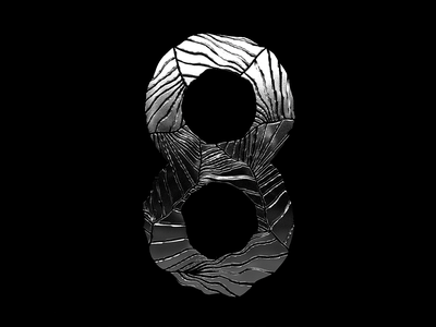 "Numeric ""8"" for 36 days of type challenge c4d42challenge c4d42 typography lettering art 3d art 36 days of type 36daysoftype 36days 3d cinema4d"
