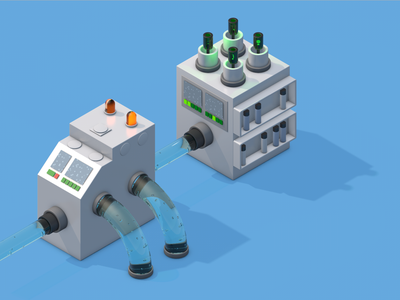 Mini Machines 3 industrial industry mini machine machinery machine illustration 3d art cinema4d 3d