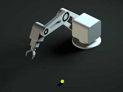 Robotic arm industrialdesign industrial robot mechanic render 3d art illustration cinema4d 3d
