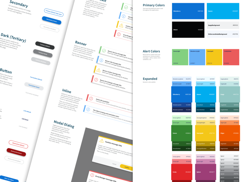 Gather Design system ui style guide styleguide design system